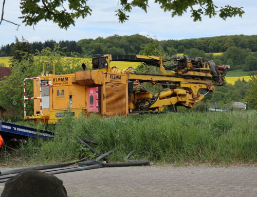 Erdbohrungen beim Baugebiet Verlängerung Eichenweg/Sonnenhang