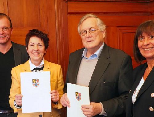 Neue Seniorensicherheitsberater VG Bürgermeister Lempertz überreicht Urkunden