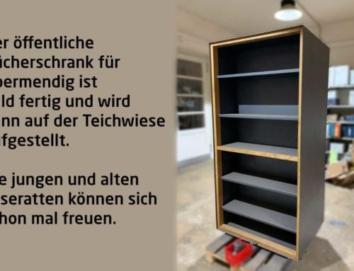 Der Bücherschrank kommt bald Standort Teichwiese Obermendig