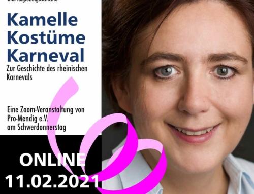 11.02.2021 um 19:11 Kamelle – Kostüme – Karneval. Eine Zeitreise durch die Geschichte des rheinischen Karnevals.