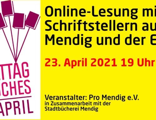 Update: Literaturlesung mit Schriftstellern aus Mendig und der Eifel